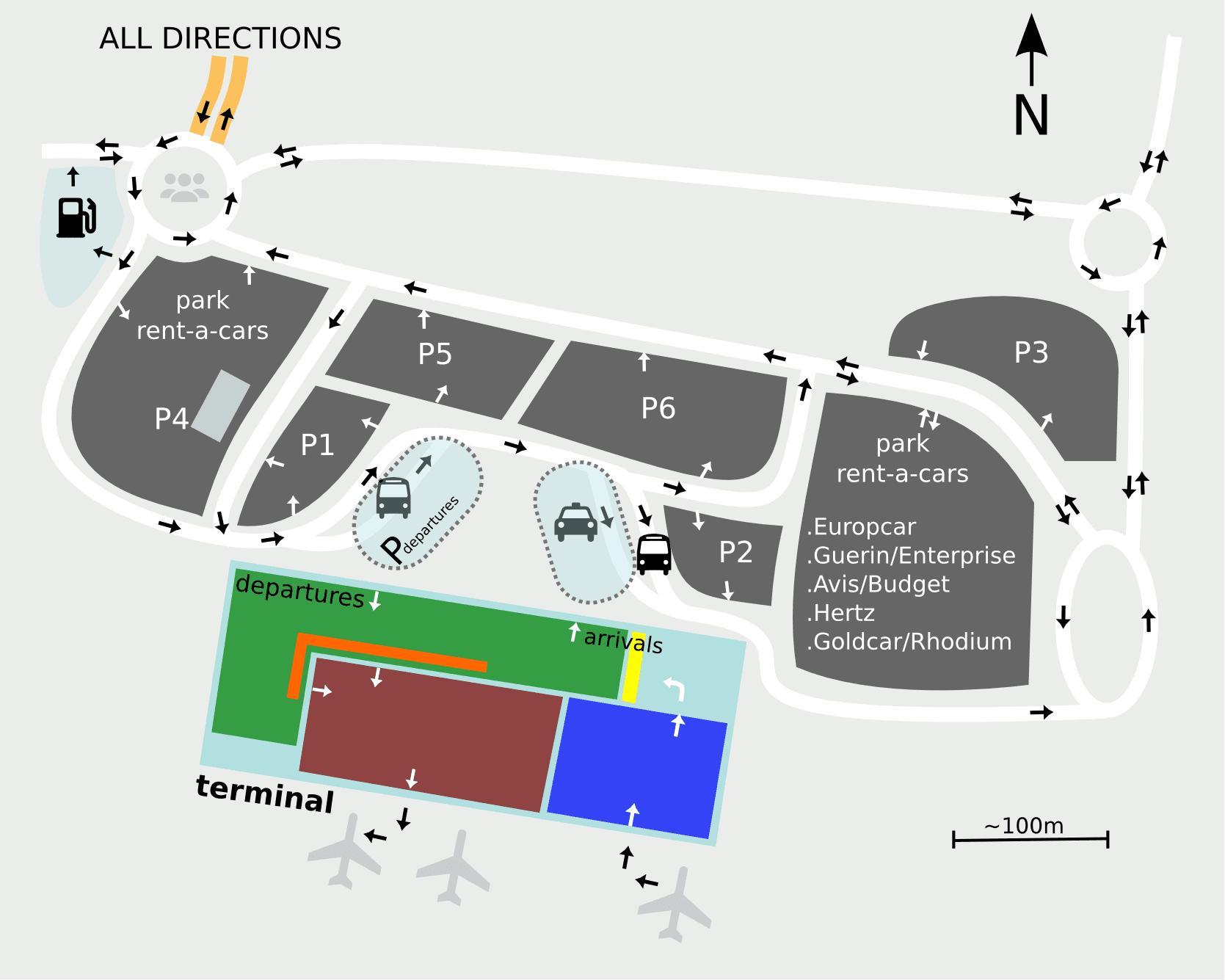 De Luchthaven Van Sevilla Kaart Sevilla Luchthaven Kaart